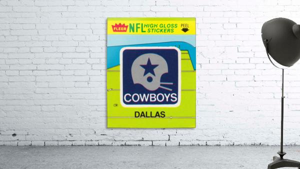 1981 Dallas Cowboys Fleer Decal Art