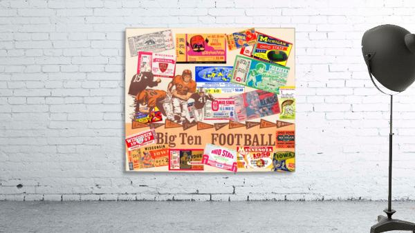 Big Ten Football Ticket Stub Collage