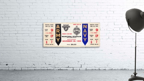1959 Army Navy Game Ticket