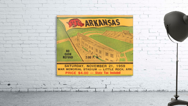 1959 Arkansas Football Ticket Art