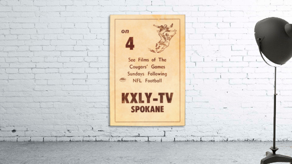 1962 kxly tv spokane football ad