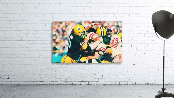 Vintage Green Bay Packers Art Digital Painting