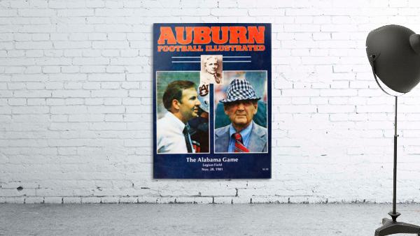 1981 Alabama vs. Auburn Program Cover