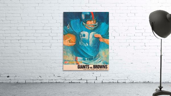 1966 New York Giants Program Cover Art