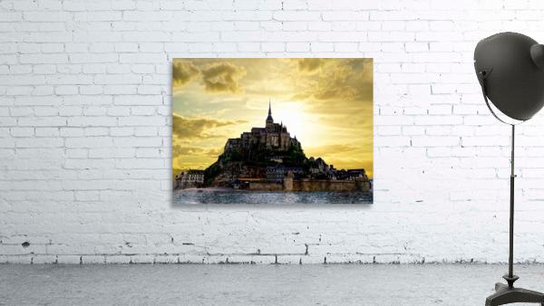 Golden Mont St Michel