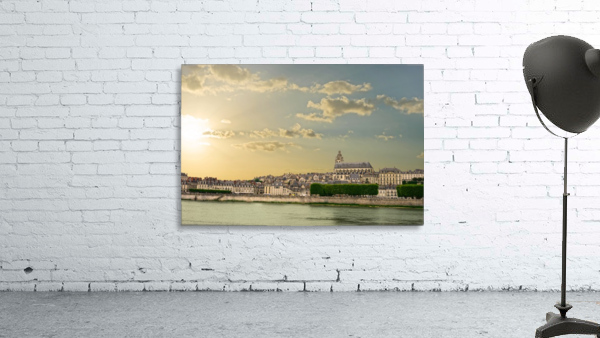 Blois and Cathedrale Saint Louis Across the Loire
