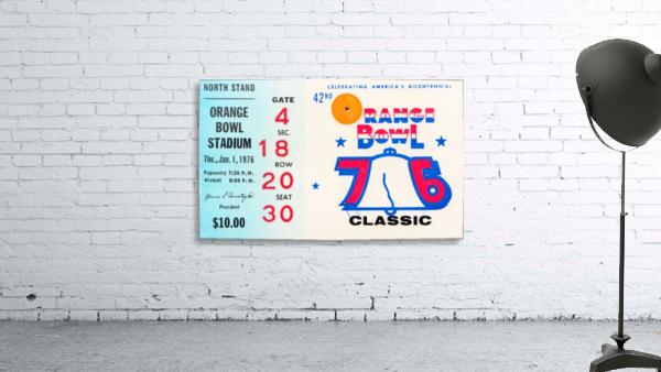 1976 Orange Bowl Ticket Stub Wall Art