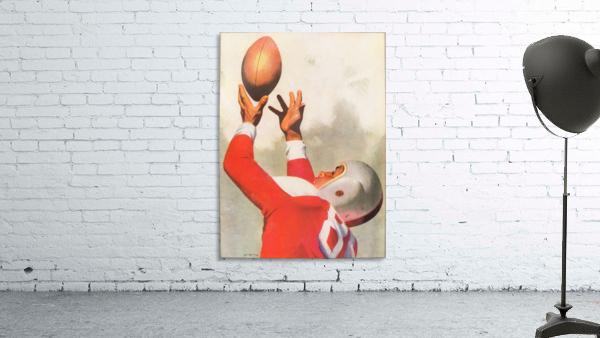 Sports Artist Lon Keller Football Art 1947