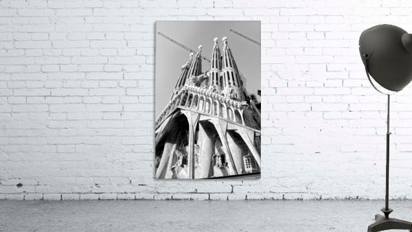 Barcelona Cathedral - La Sagrada Familia in black and white