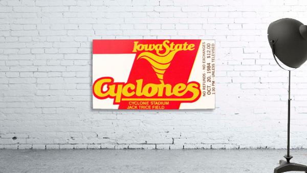 1984 Iowa State Ticket Stub Art