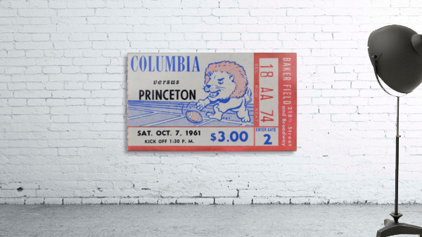 1961 Columbia vs. Princeton Ticket Stub Art