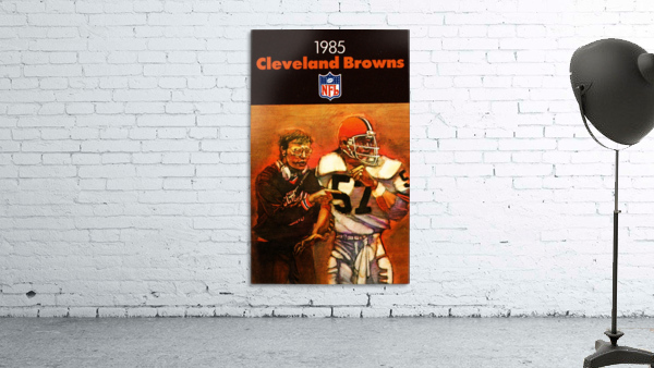1985 Cleveland Browns Football Poster