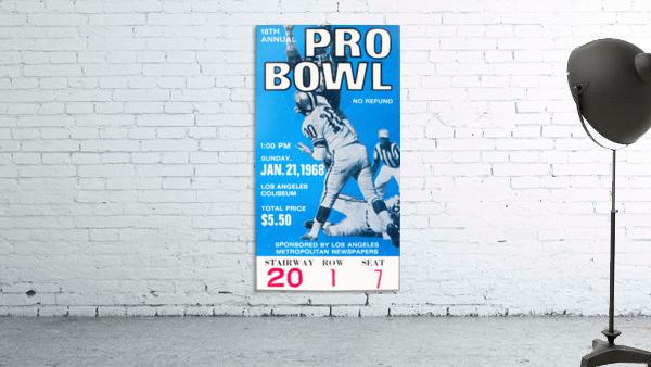 1968 Pro Bowl Football Ticket Stub Print