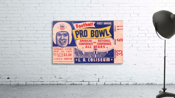 1951 First Pro Bowl Ticket Stub Art