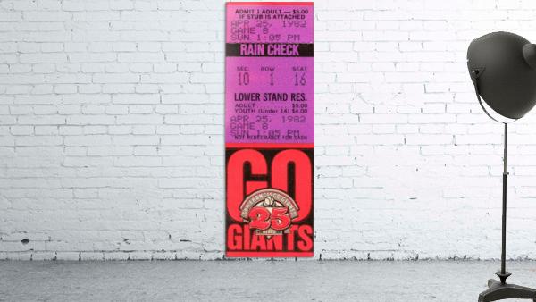 1982 San Francisco Giants Ticket Stub Art