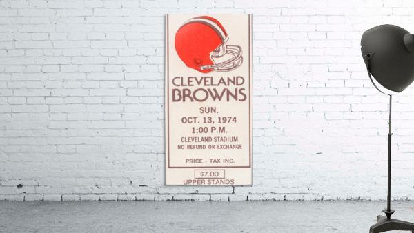 1974 Cleveland Browns Ticket Stub Art