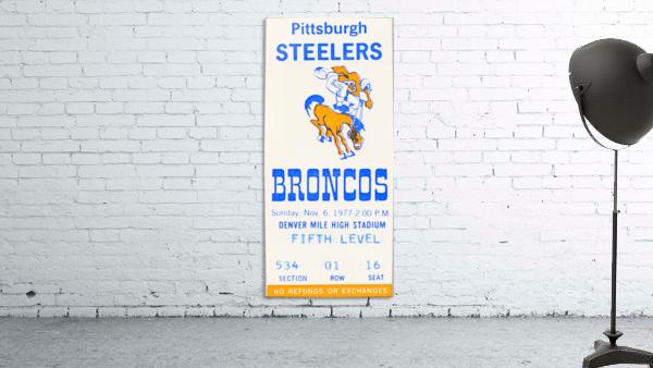 1977 Denver Broncos vs. Pittsburgh