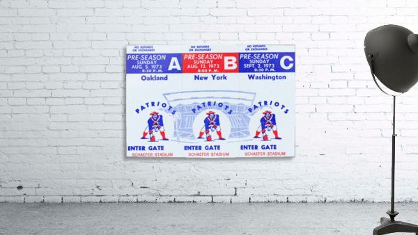 1973 New England Patriots Season Tickets