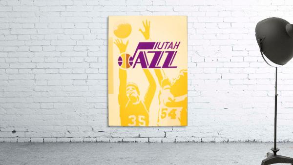 1980 Utah Jazz Retro Basketball Art