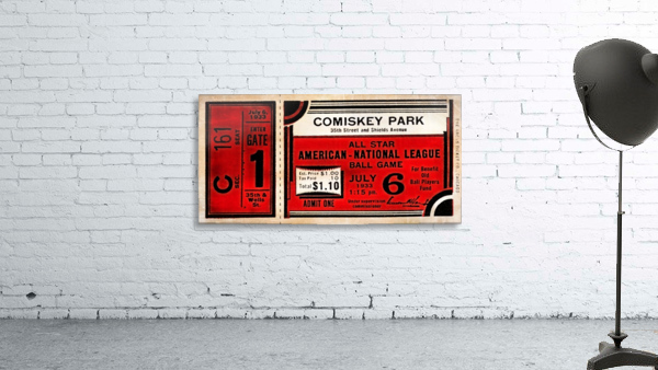 1933 Comiskey Park All-Star Game Ticket Art