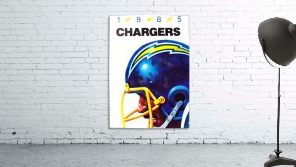 1985 San Diego Chargers Football Poster