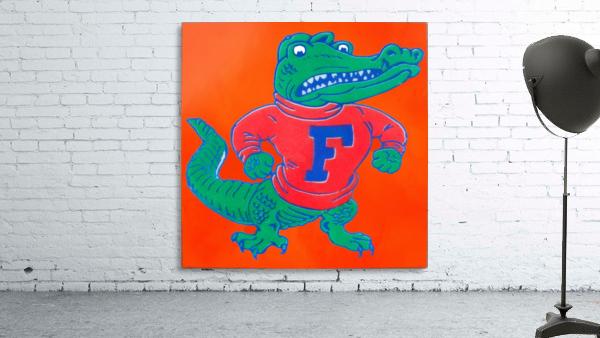 Retro Florida Gator Art