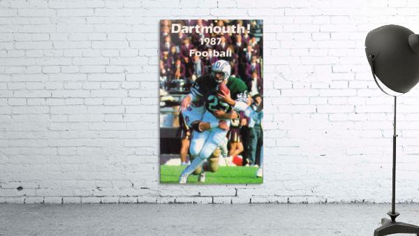 1987 Dartmouth Big Green Football Poster