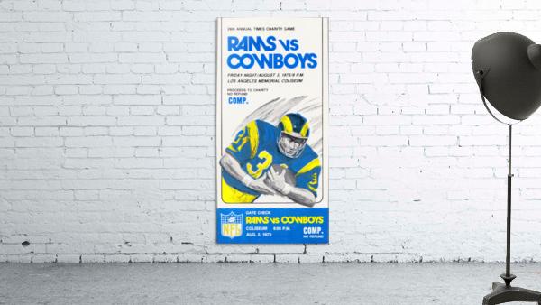 1973 LA Rams vs. Dallas Cowboys Ticket Art