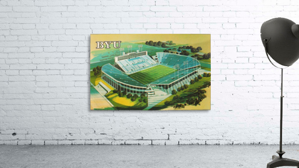 1982 BYU Cougar Stadium Art