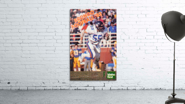 1983 Boise State Broncos Carl Keever Football Poster