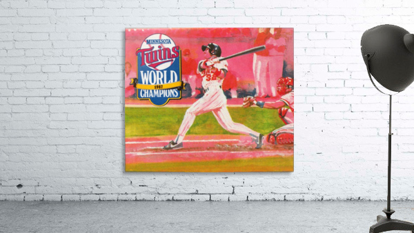 1988 Minnesota Twins Baseball Art