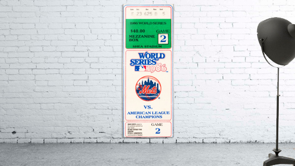 1986 New York Mets World Series Ticket Wall Art