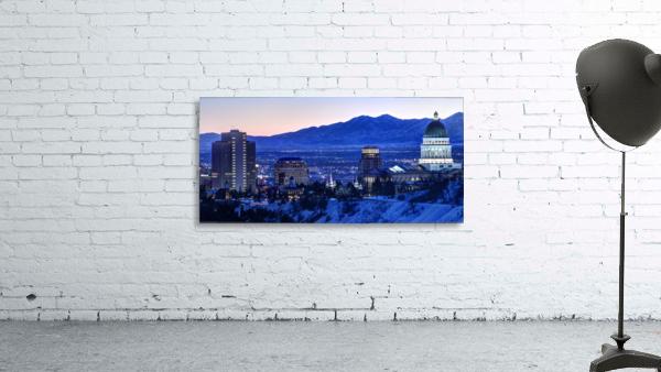 Utah State Capitol Sunset Salt Lake City Government Architecture Photography Historic Lights Night Fine Art Photo Print  Wall Decor