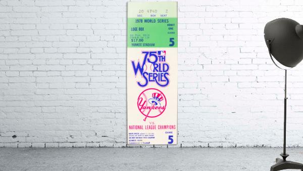 1978 World Series Ticket Art