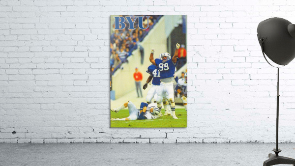 1986 BYU Cougars Football Poster