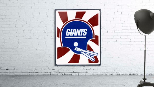 Retro New York Giants Helmet Art