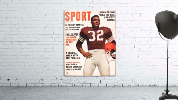 1964 Sport Magazine Jim Brown Cover Art