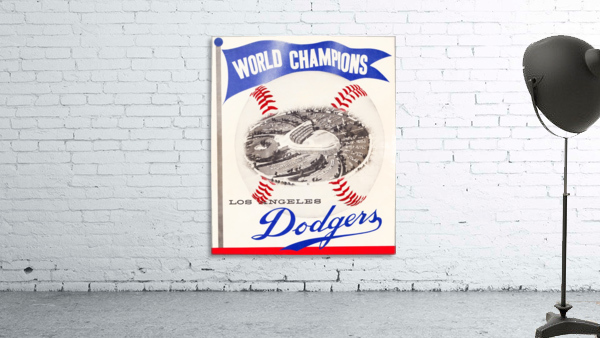 1960 Los Angeles Dodgers Baseball Art