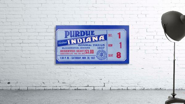 1937 Indiana vs. Purdue Ticket Stub Art