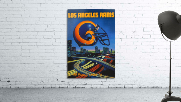 1983 Los Angeles Rams Football Poster