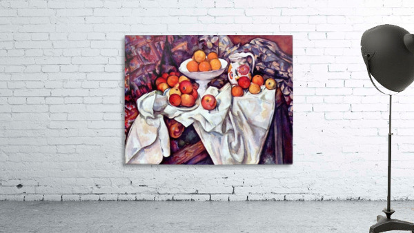 Still Life with Apples and Oranges by Cezanne