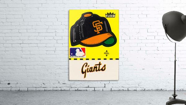 1981 San Francisco Giants Fleer Decal Poster