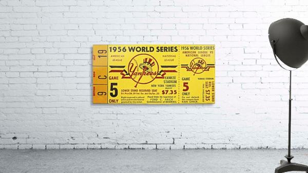 1956 World Series Perfect Game Ticket Stub Art