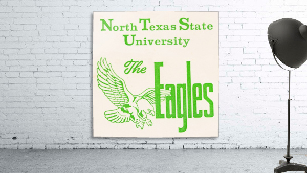 Vintage North Texas State University Eagles Art