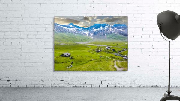 High Alps Village in Spring Switzerland