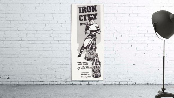 1937 Iron City Beer Vintage Football Ad