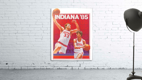 1985 Indiana Hoosiers Basketball Art