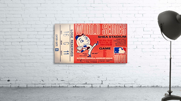 1969 New York Mets Game 5 Ticket Art
