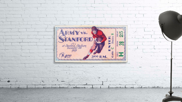 1929 Stanford Football Ticket Stub Art