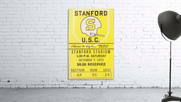 1972 Stanford vs. USC Ticket Stub Art